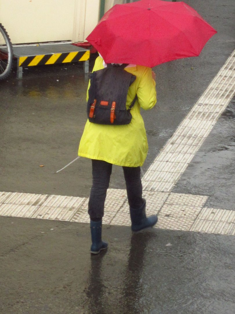 Rot-Gelb-Regen