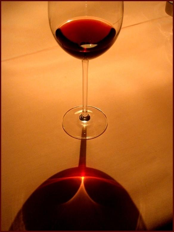 Rot-Wein-Glas
