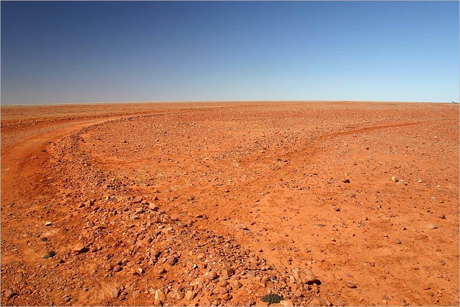 Rote endlose Wüste...