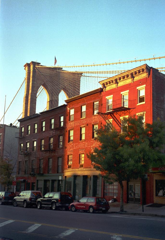 Rote Häuser Bilder rote häuser broklynbridge foto bild america united