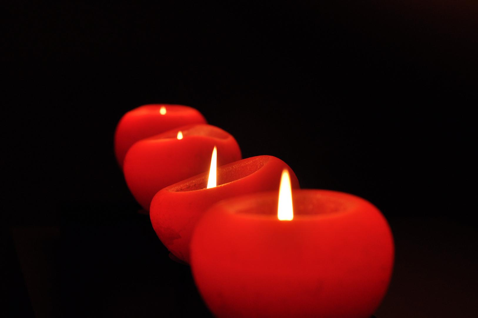 Rote Kerzen !