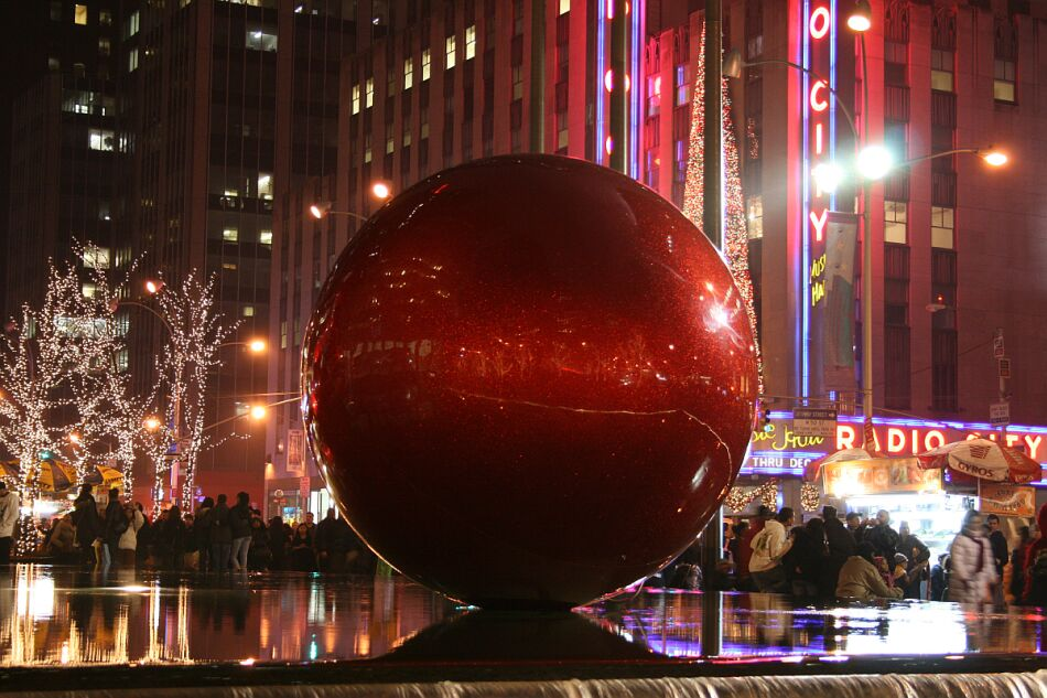 Rote Kugel in NY