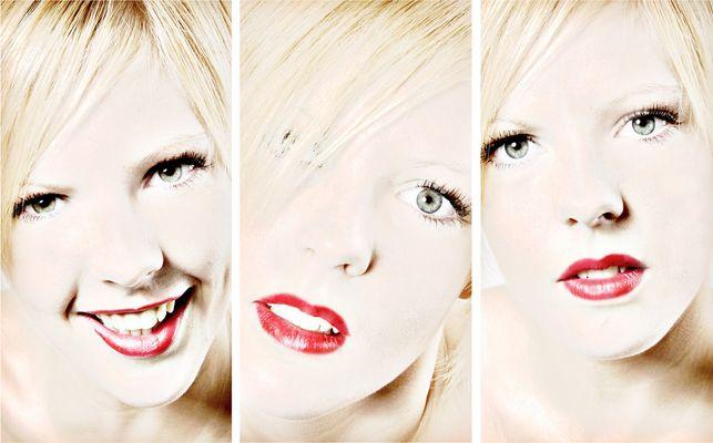 rote Lippen - weiße Haut