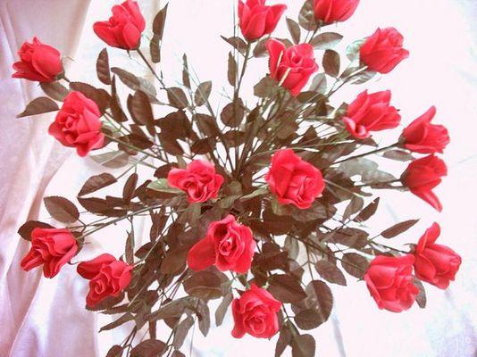 Rote Rosen oder ein Strauß voller Liebe