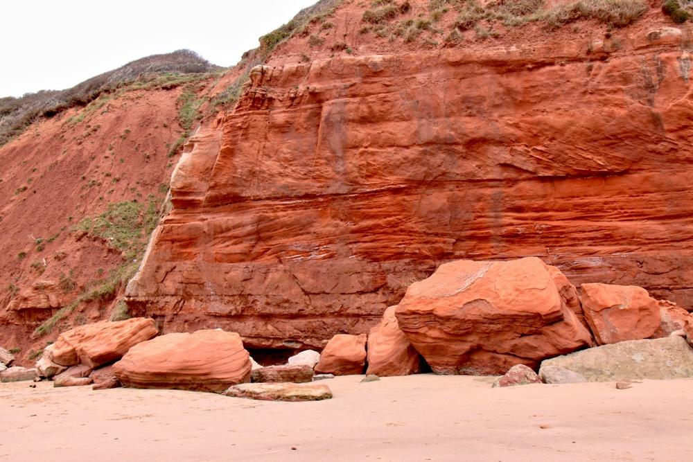 Rote Steilküste