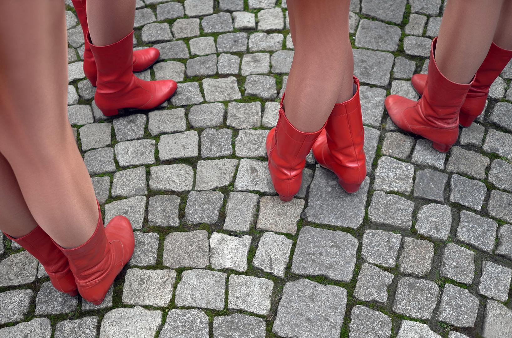 Rote Stiefel