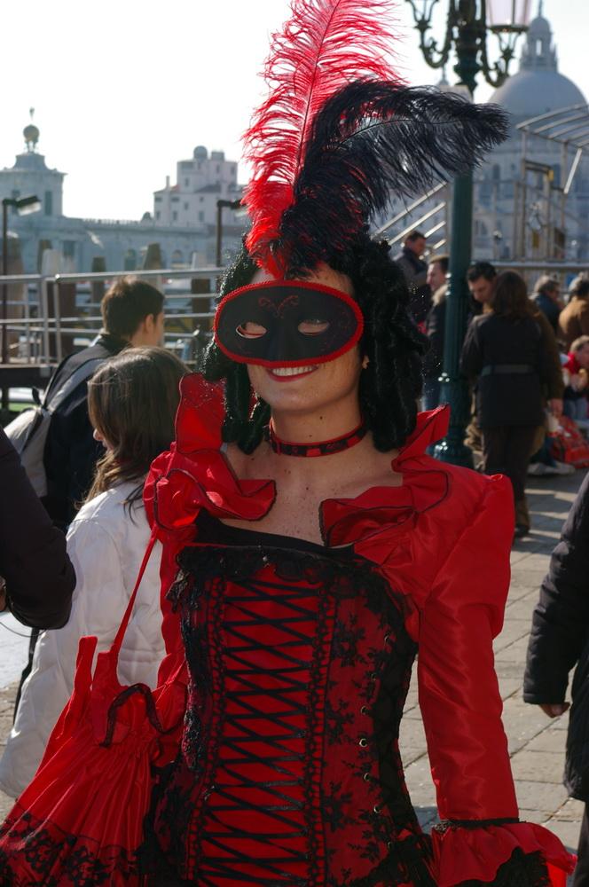 Rote Unbekannte in Venedig