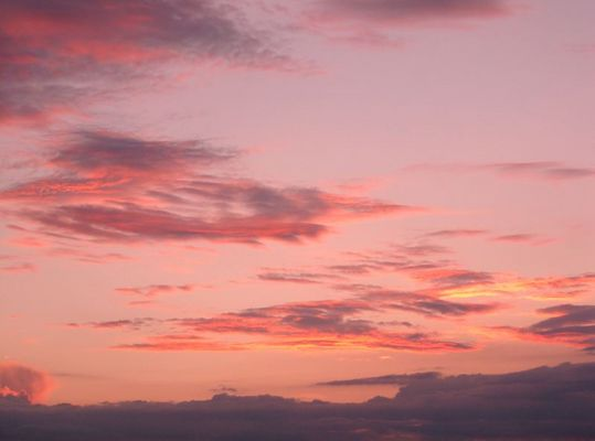 Rote Wolken