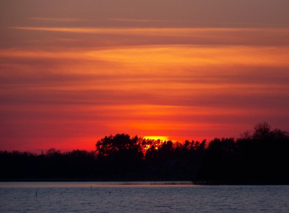 Roten Abendhimmel