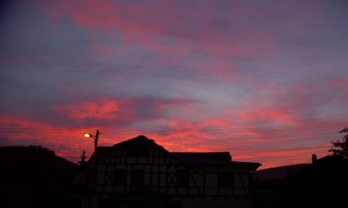 roter himmel über suhl