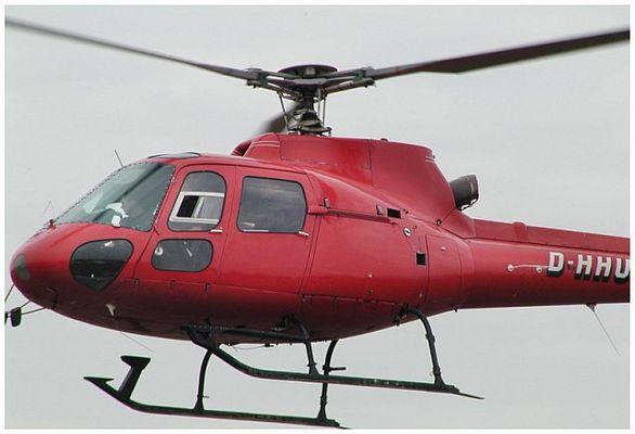 Roter Hubschrauber