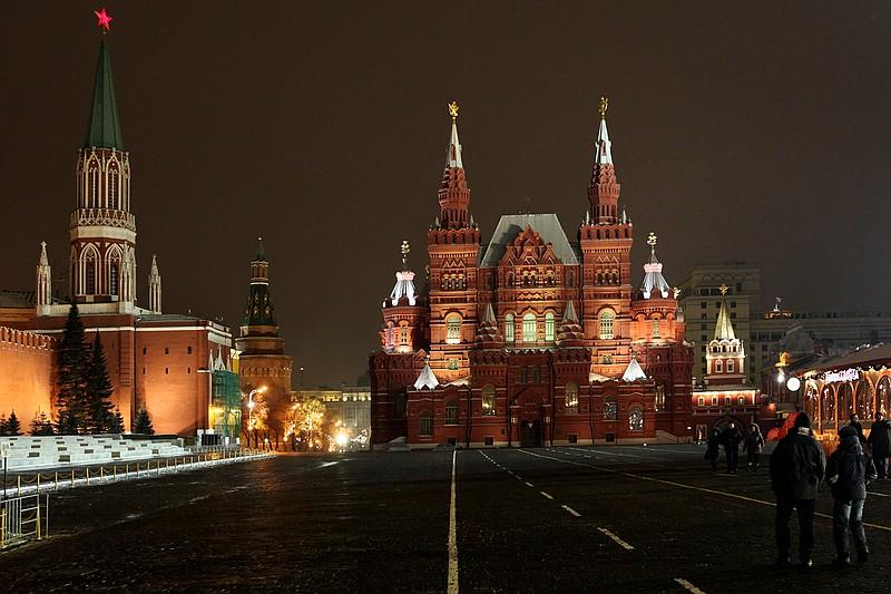 Roter Platz in Moskau - Kreml - noch ein Stern :)