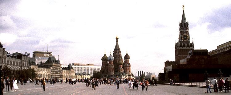 Roter Platz mit Kaufhaus Gum, Basilius-Kathedrale und Mausoleum