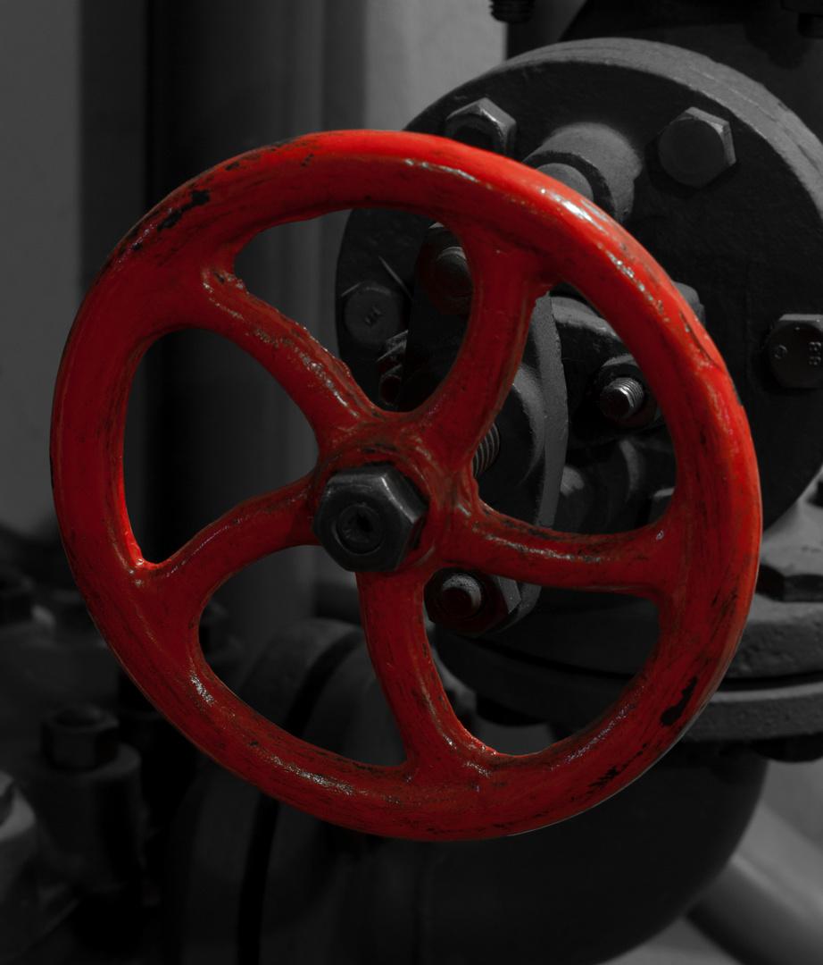Rotes Drehrad 1