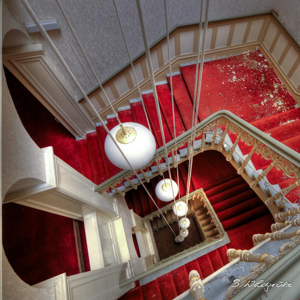Rotes Treppenhaus