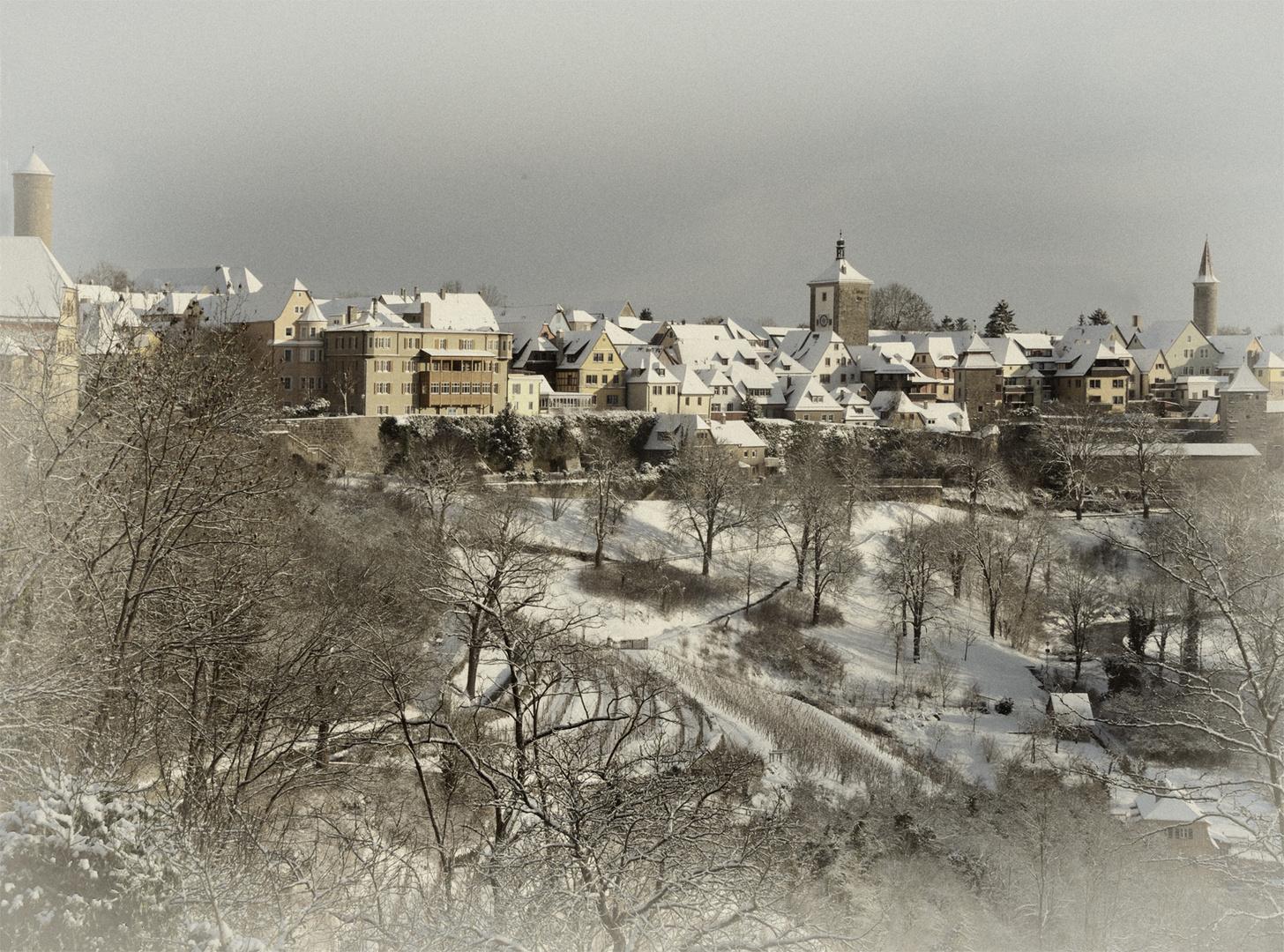 Rothenburg o. T. im Winter