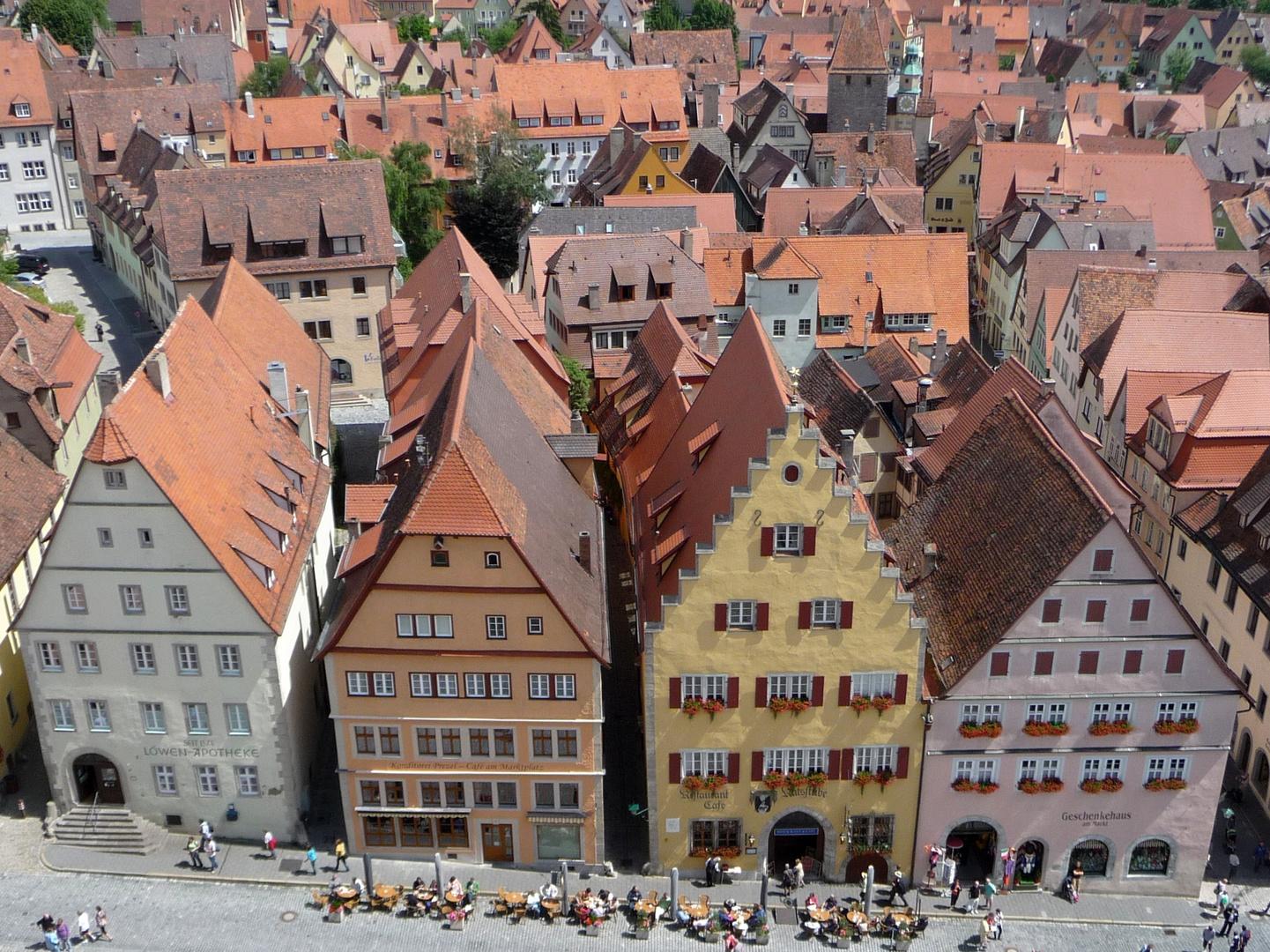 Rothenburg ob der Tauber - Blick vom Rathausturm