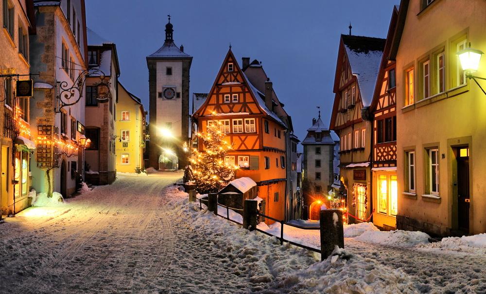 Rothenburg ob der Tauber - Plönlein im Winter