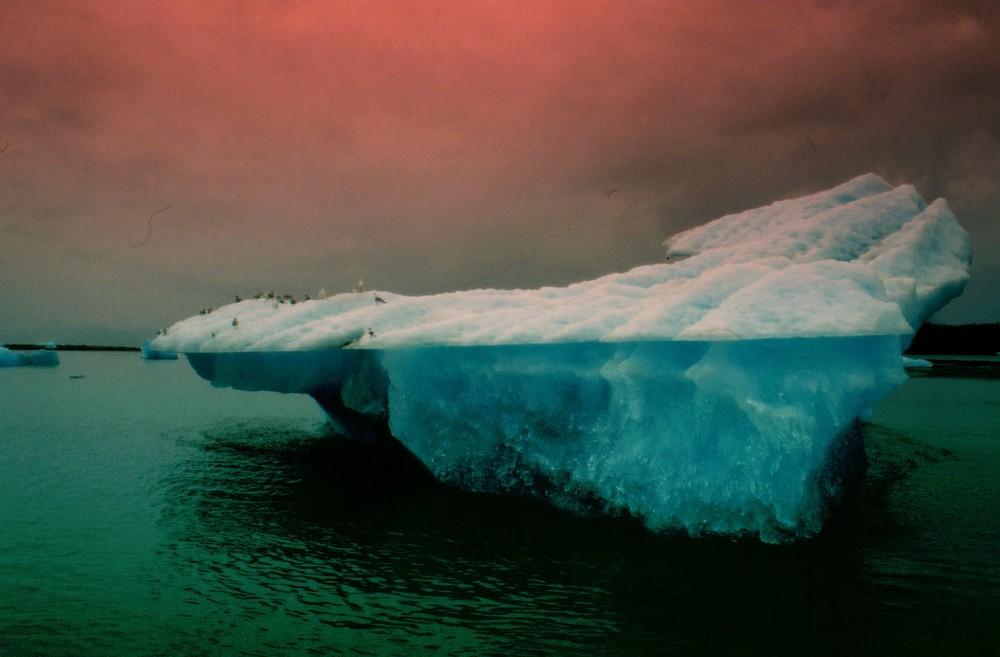 Rotlicht im Eis