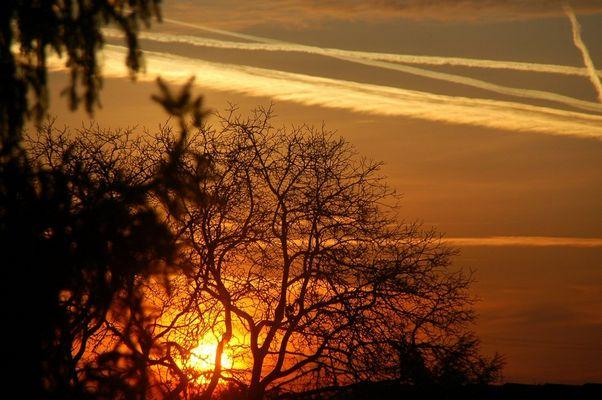 Rotorange Sonne