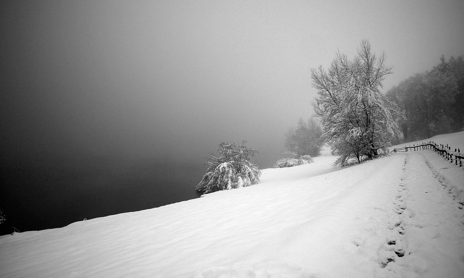 Rottachsee im Winter