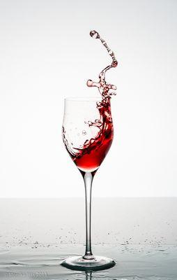 Rotwein in Bewegung