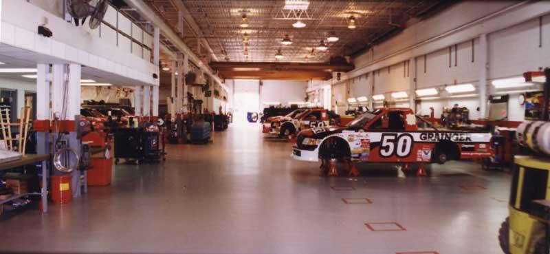 Roush Bush National series race shop