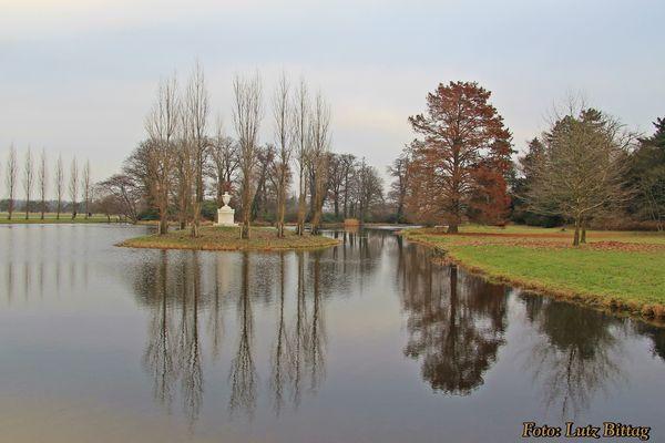 Rousseau-Insel - Wahrzeichen des Wörlitzer Parks