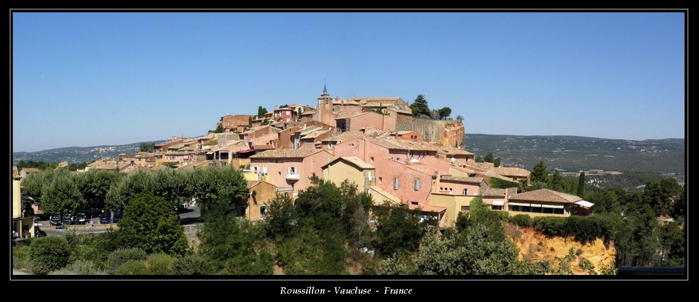 Roussillon Vaucluse - France