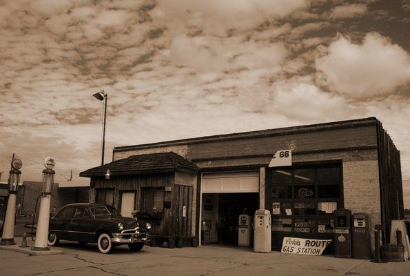 Route 66 Gasstation bearbeitet