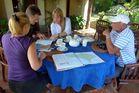 ...Routen Besprechung auf Kubu Carik...