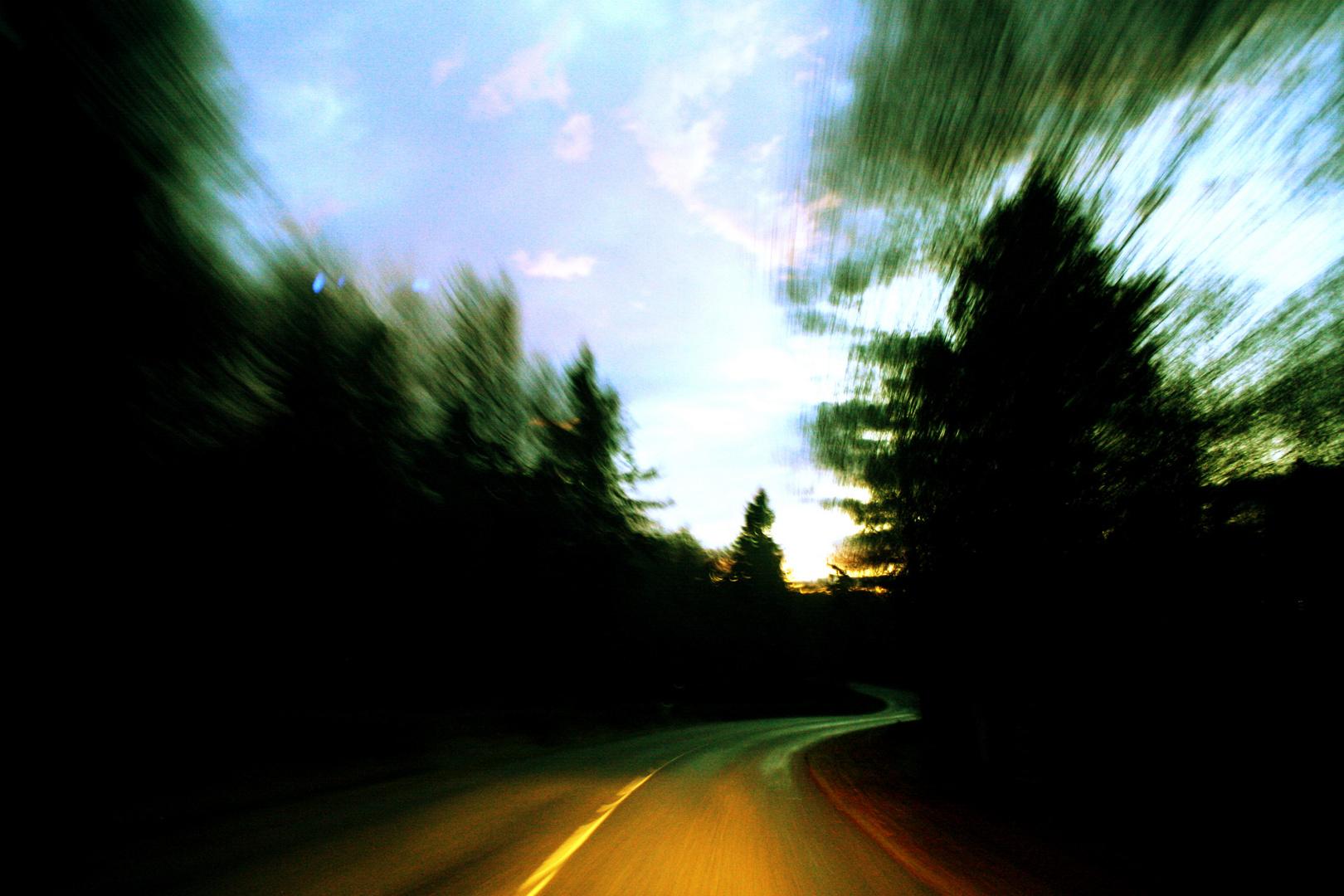 routes des crêtes près du lac blanc