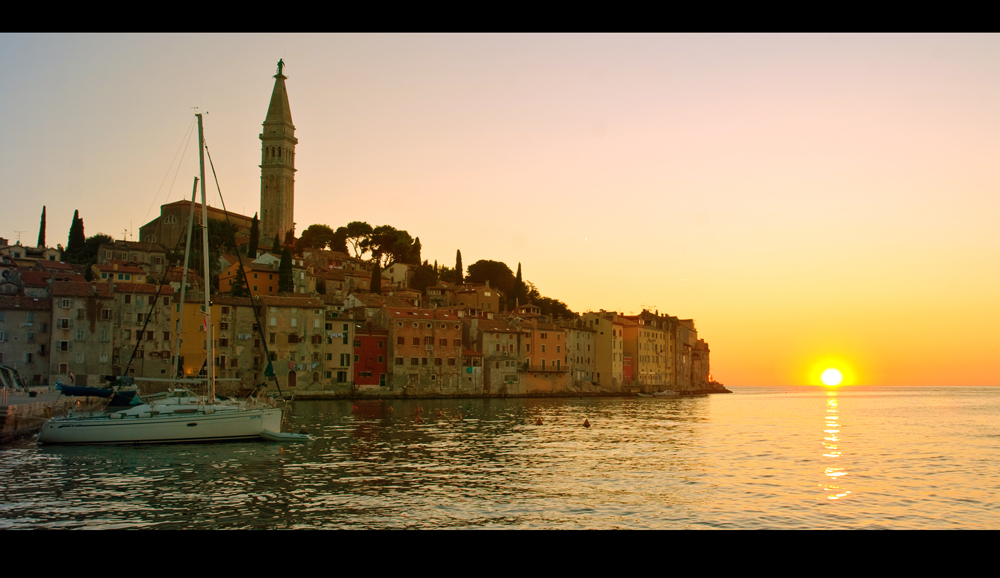 Rovinj in der Abendsonne