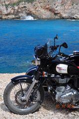 Royal Enfield Gespann in Griechenland 2016 Matte 259