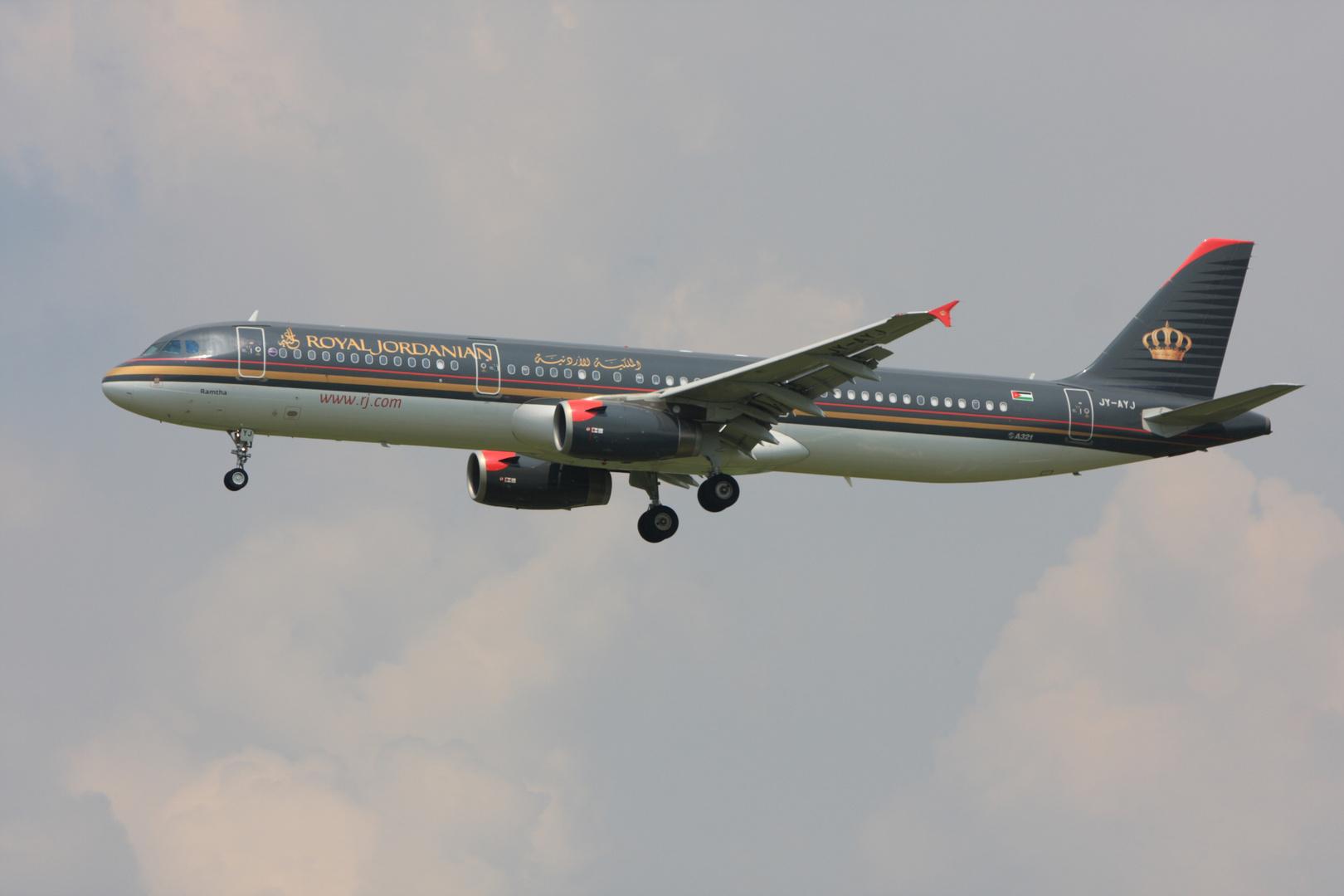 Royal Jordanian A321 JY-AYJ