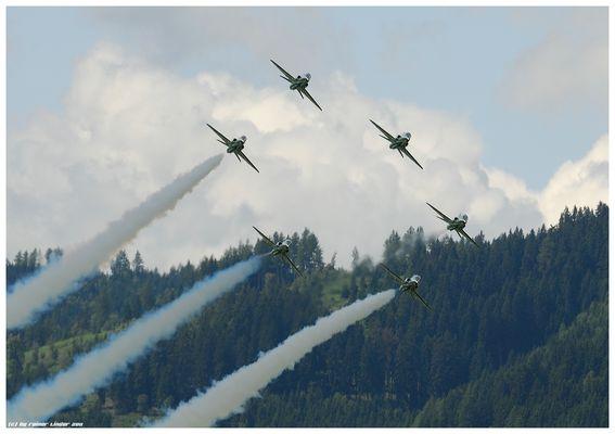 Royal Saudi Hawks auf der Airpower11 in Zeltweg