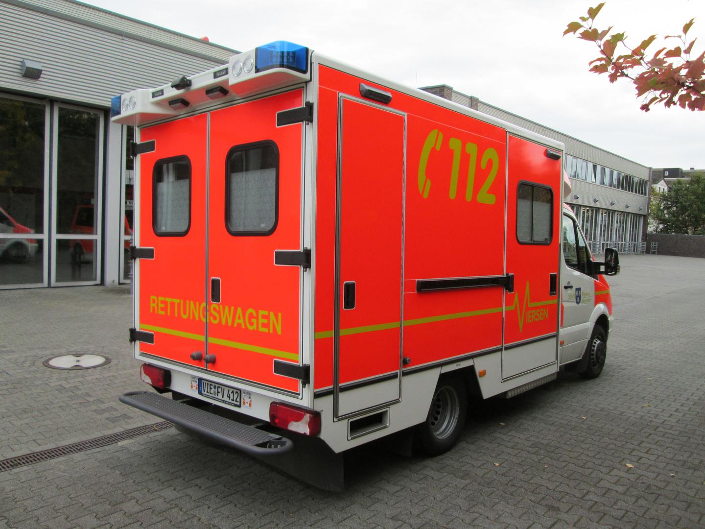 RTW desRettungsdienst der FF Viersen