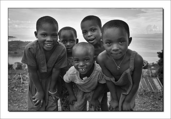 Ruanda Kinder am Kivu See