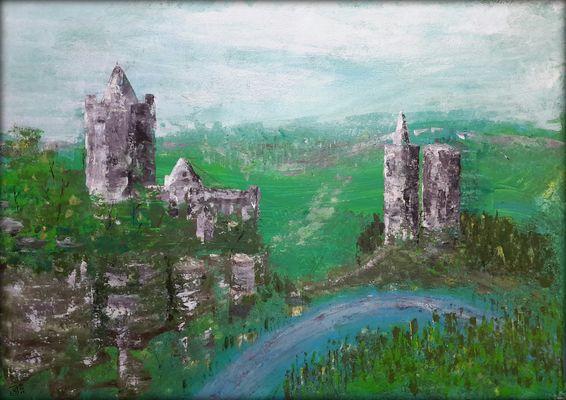 Rudelsburg und Burg Saaleck