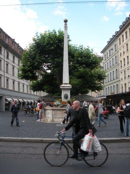 Rue commerçante de Genève