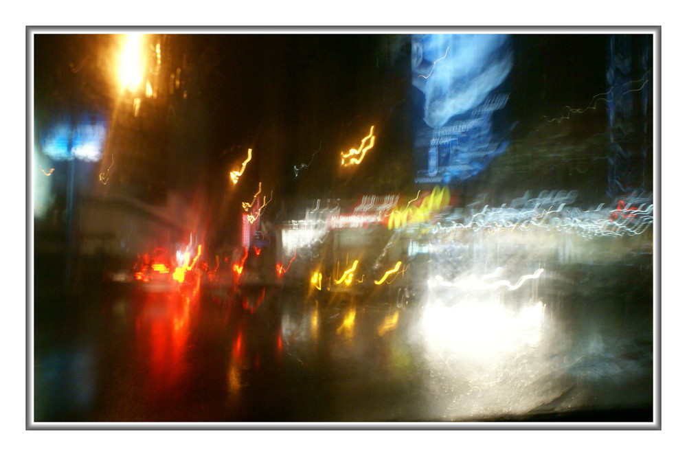 Rue de casa la nuit