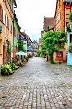 Rue de Riquewirhr,village d'Alsace.