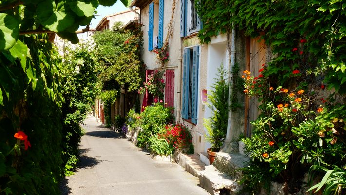Rue fleurie, Antibes