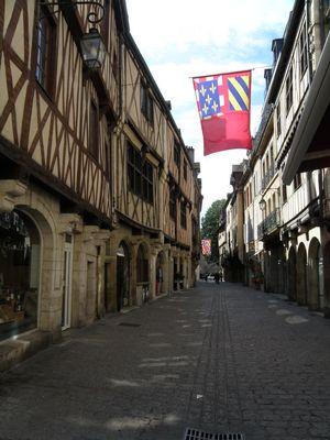 Rue Verrerie à Dijon (Côte d'Or, Bourgogne, France)