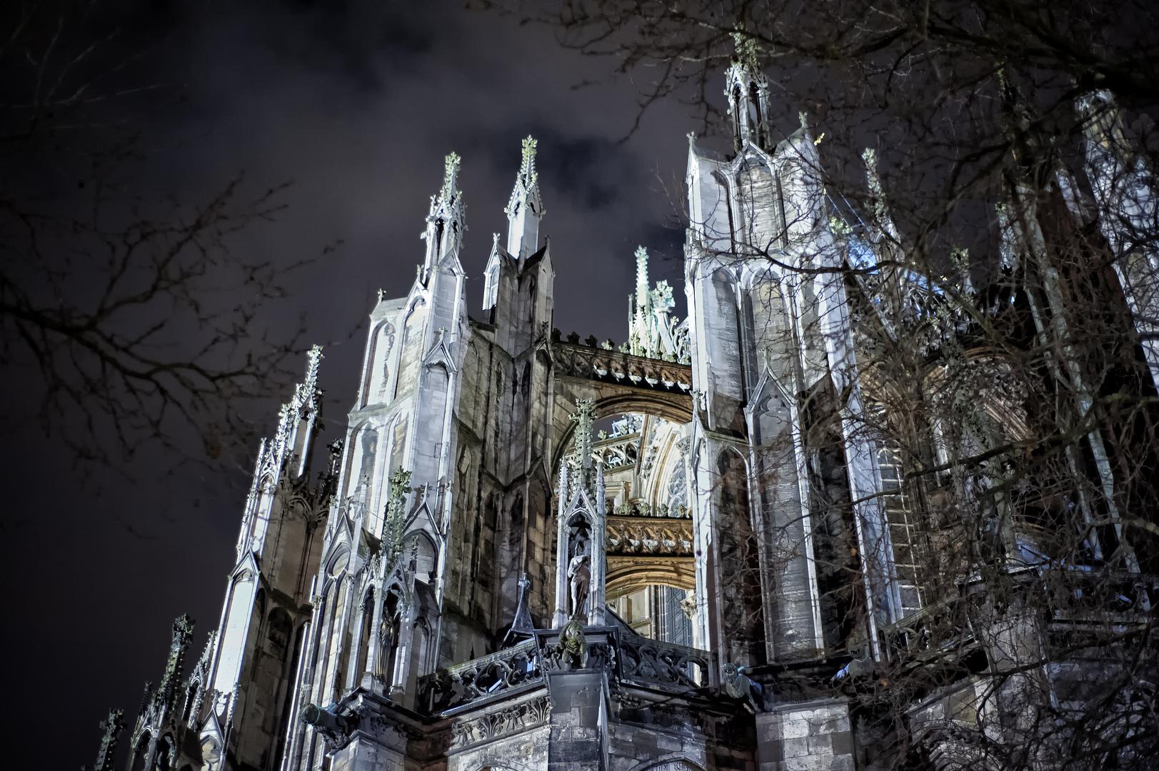 Rückansicht des Kölner Doms