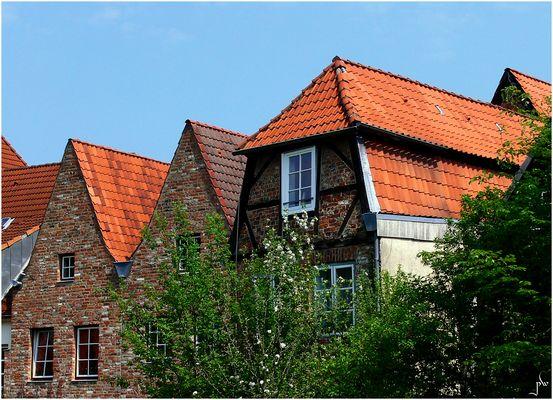 Rückansichten von Altstadthäusern