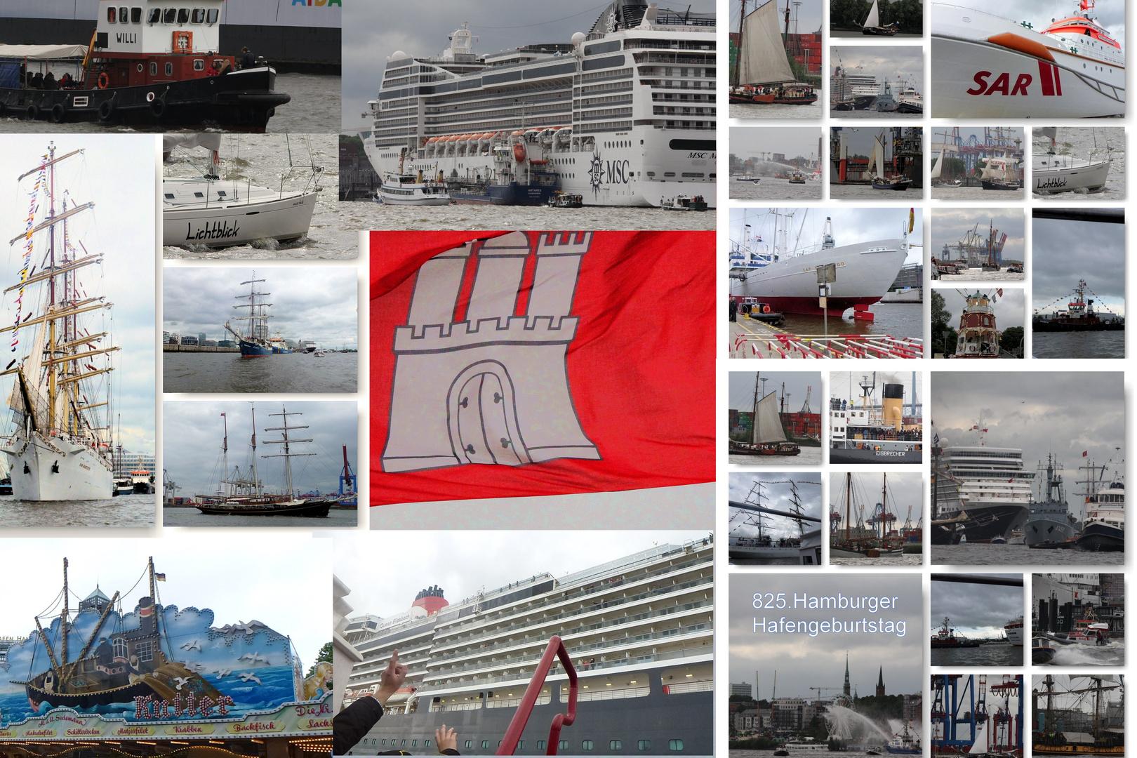 Rückblick auf den Hamburger Hafengeburtstag 825