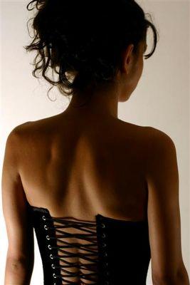 Rückenbild mit Corsage