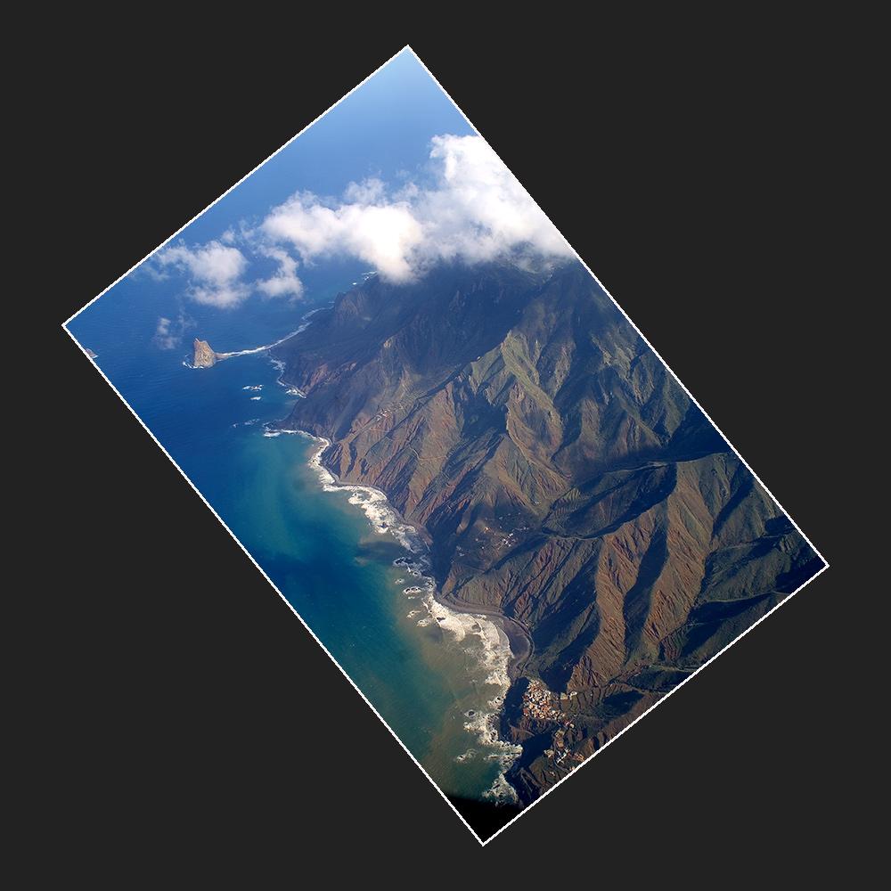 Rückflug . . . über das Anaga Gebirge . . . .