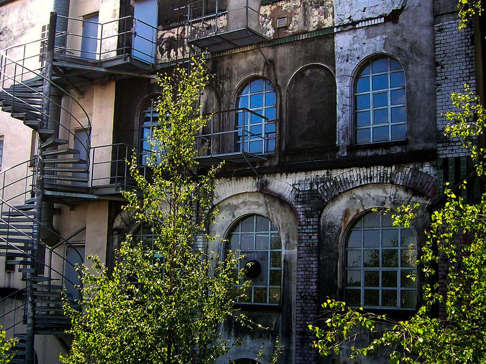Rückseite der alten Schellackfabrik